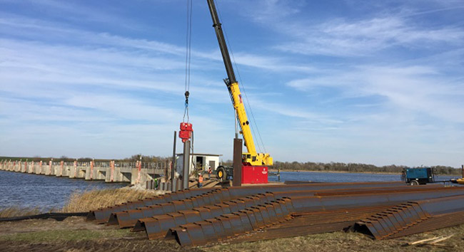 Steel sheet pile exports to the Netherlands