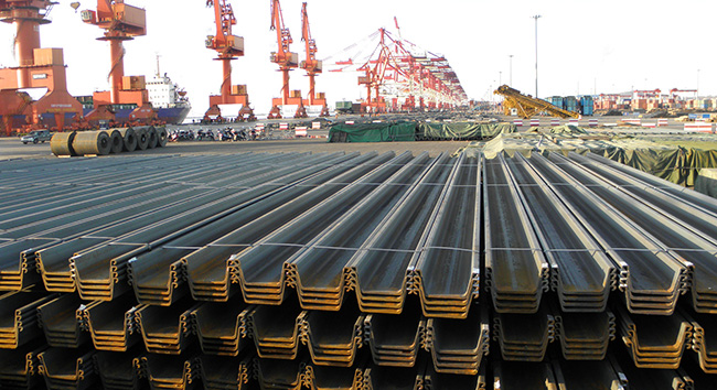 Steel sheet pile exports to Singapore